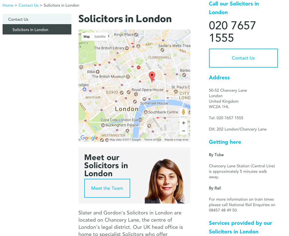 London office page